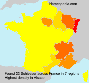 Surname Schiesser in France