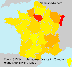 Surname Schindler in France