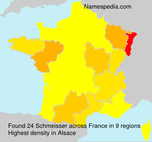 Surname Schmeisser in France