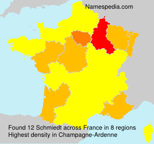 Surname Schmiedt in France