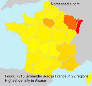 Surname Schneider in France