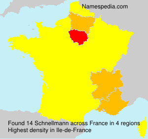 Surname Schnellmann in France