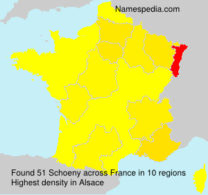Surname Schoeny in France