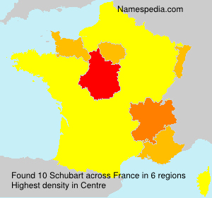 Surname Schubart in France