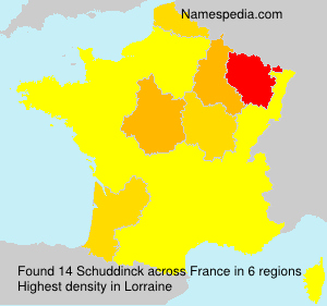 Surname Schuddinck in France