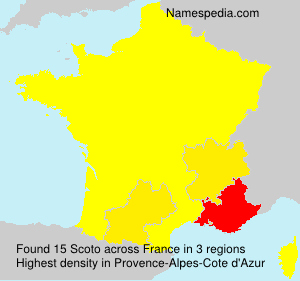 Surname Scoto in France