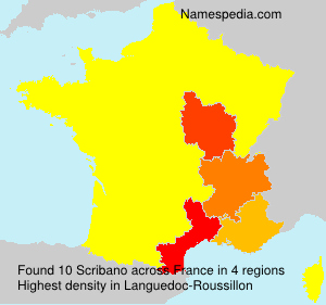 Surname Scribano in France