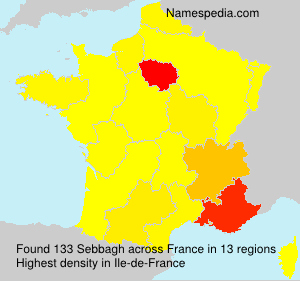 Surname Sebbagh in France
