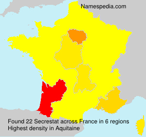Surname Secrestat in France