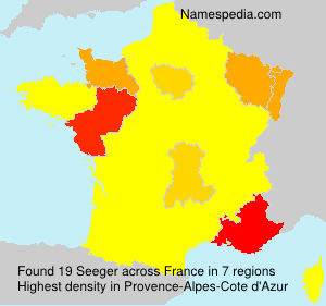 Surname Seeger in France