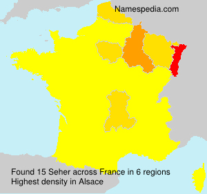 Surname Seher in France