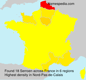 Surname Serroen in France
