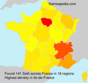 Surname Setti in France