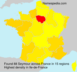 Surname Seymour in France