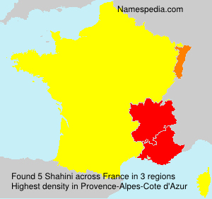 Surname Shahini in France