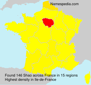 Surname Shao in France