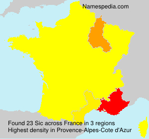 Surname Sic in France
