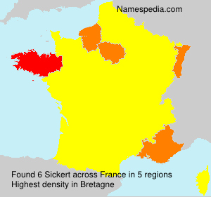 Surname Sickert in France