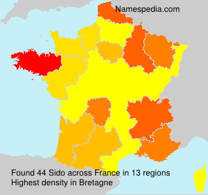 Surname Sido in France