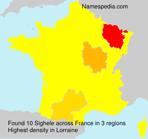 Surname Sighele in France