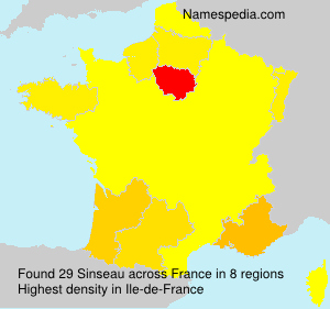 Surname Sinseau in France