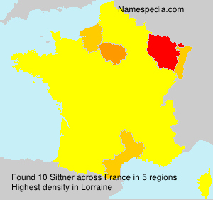 Surname Sittner in France
