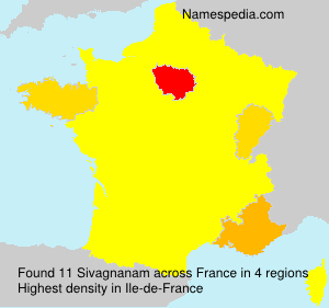 Surname Sivagnanam in France