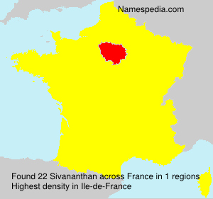 Surname Sivananthan in France