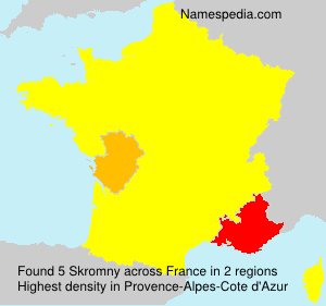 Surname Skromny in France
