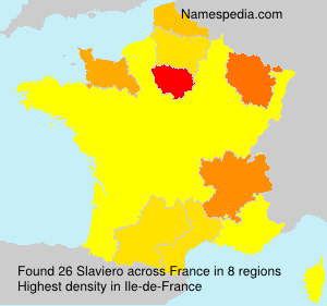 Surname Slaviero in France