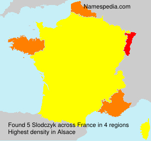 Surname Slodczyk in France