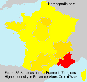 Surname Solomas in France