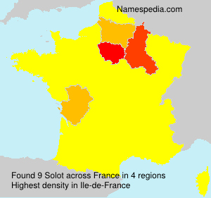 Surname Solot in France