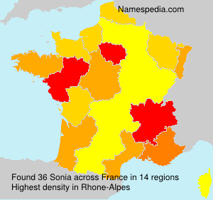 Surname Sonia in France