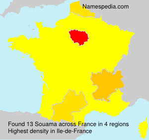 Surname Souama in France