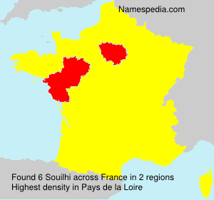 Surname Souilhi in France