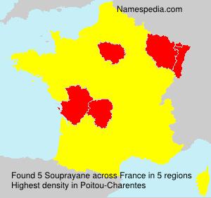 Surname Souprayane in France