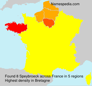 Surname Speybroeck in France