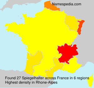 Surname Spiegelhalter in France