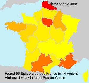 Surname Spileers in France