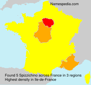 Surname Spizzichino in France