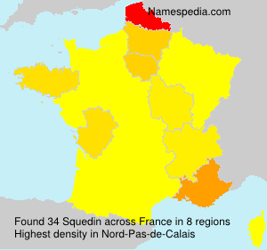 Surname Squedin in France