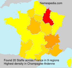 Surname Staffe in France