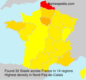 Surname Stasik in France