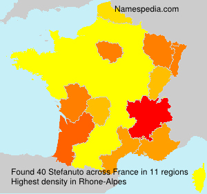 Surname Stefanuto in France