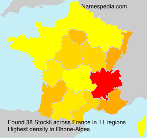 Surname Stockli in France