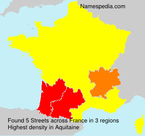 Surname Streets in France