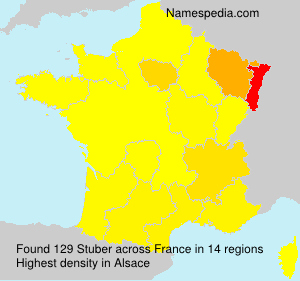 Surname Stuber in France