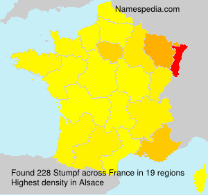 Surname Stumpf in France