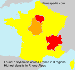 Surname Stylianidis in France
